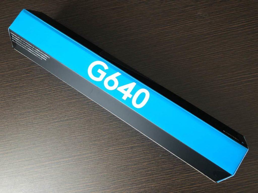 ロジクール G640 外箱