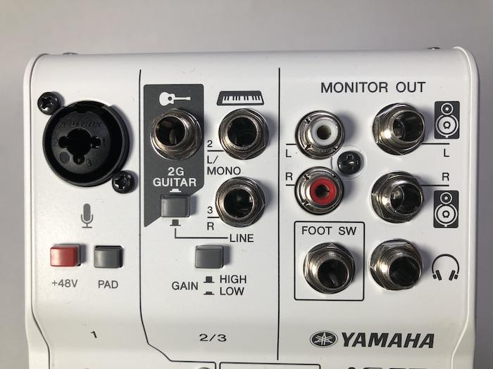 YAMAHA AG03 接続端子類