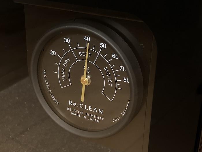 インテリア防湿庫 Re:CLEAN アナログ湿度計
