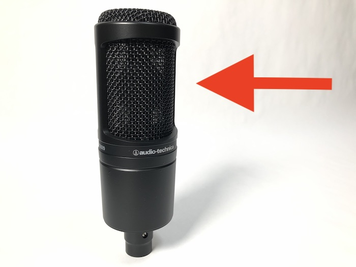 audio-technica AT2020 音声入力方向