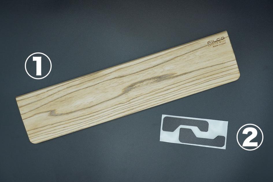 Filco Genuine Wood Wrist Rest 付属品